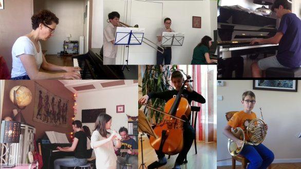 Les élèves de l'Académie Musicale Crescendo
